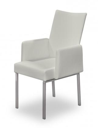 Jídelní židle Set - područky (ocel nerez, krémová)