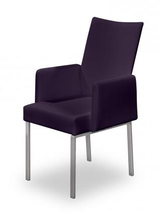 Jídelní židle Set - područky (ocel nerez, temně fialová)