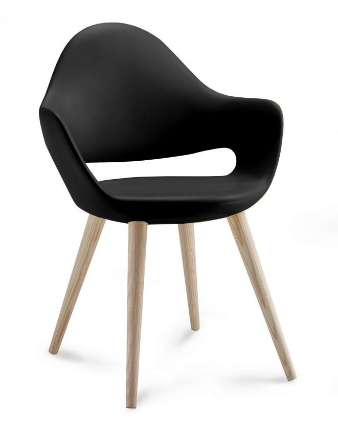 Jídelní židle Soft-l - Jídelní židle (černá)