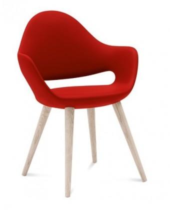 Jídelní židle Soft-l - Jídelní židle (červená)
