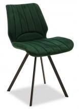 Jídelní židle Stacy černá, zelená