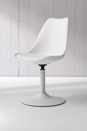 Jídelní židle Tequila - Jídelní židle (bílá, eko kůže bílá)