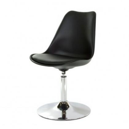 Jídelní židle Tequila - Jídelní židle (chrom, černá, eko kůže černá)