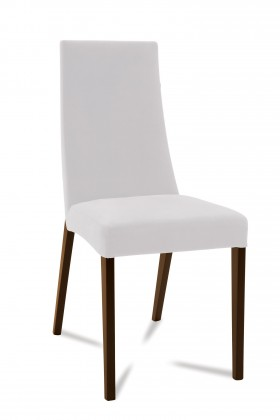 Jídelní židle Tortuga (jasan/látka carabu bílá)