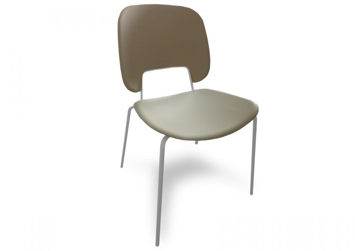 Jídelní židle Traffic - Jídelní židle (lak bílý matný, plast pískový)