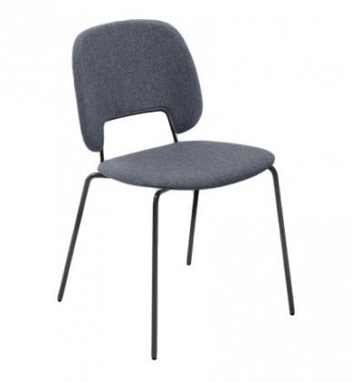 Jídelní židle Traffic - Jídelní židle (lak černý matný, látka jeans)