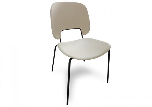 Jídelní židle Traffic - Jídelní židle (lak černý matný, plast bílá)