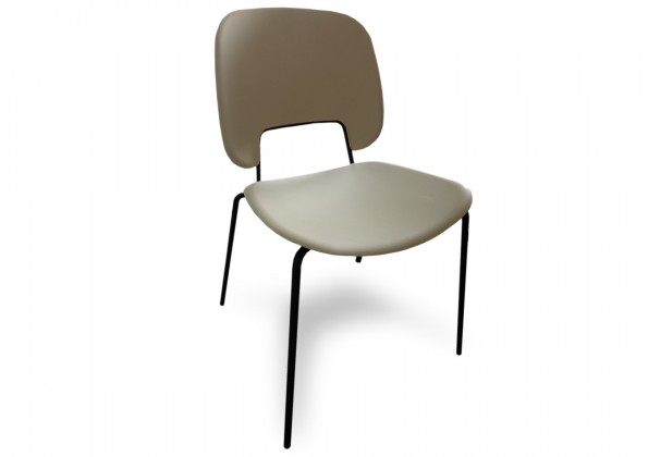 Jídelní židle Traffic - Jídelní židle (lak černý matný, plast pískový)