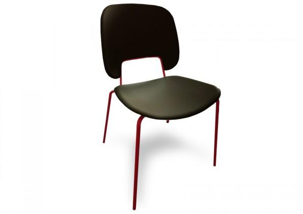 Jídelní židle Traffic - Jídelní židle (lak červený matný, plast černá)