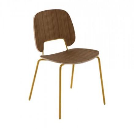 Jídelní židle Traffic - Jídelní židle (lak hořčicový, ořech)