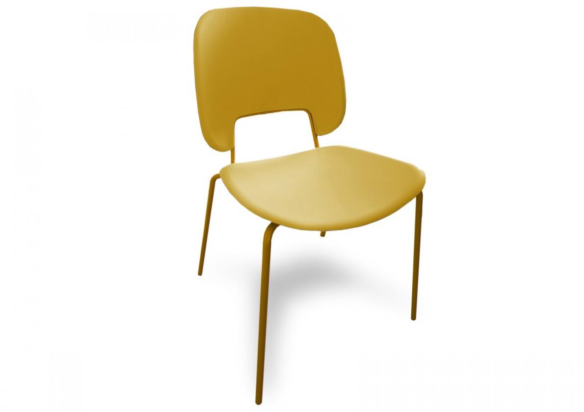 Jídelní židle Traffic - Jídelní židle (lak hořčicový, plast hořčicový)