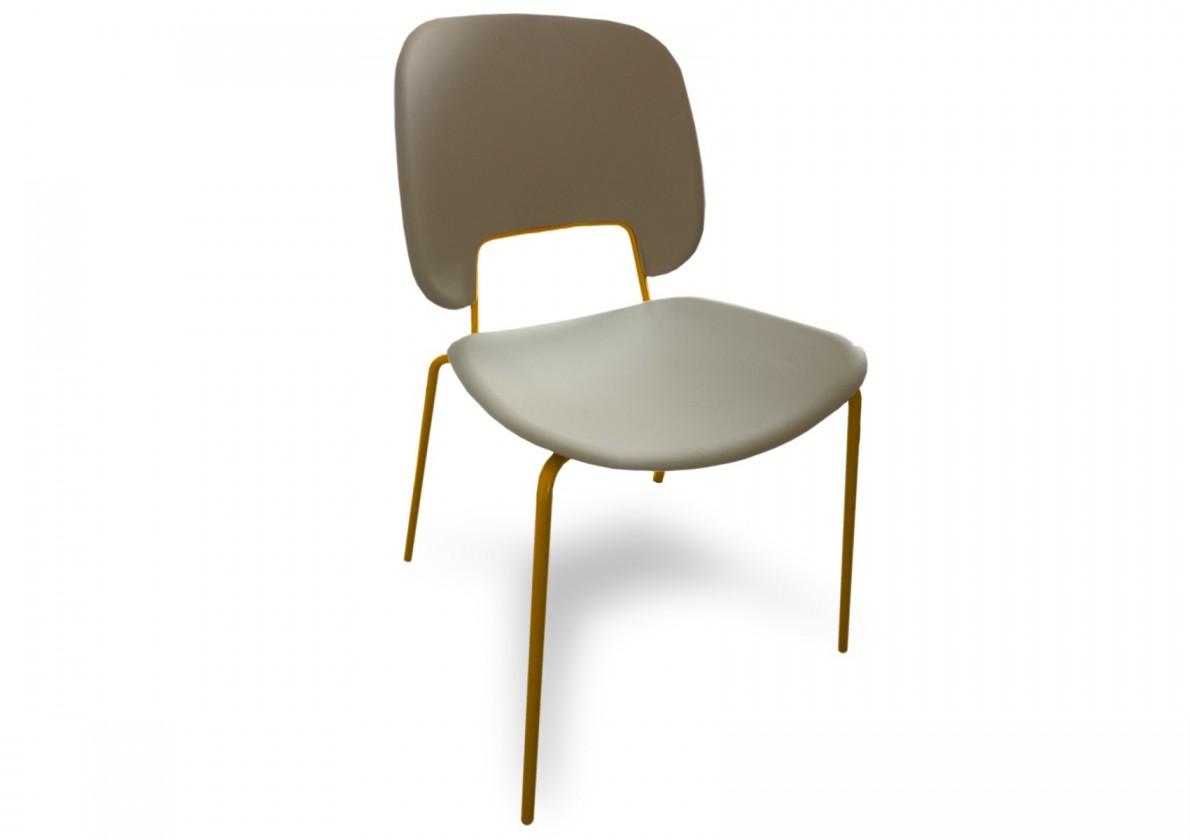 Jídelní židle Traffic - Jídelní židle (lak hořčicový, plast pískový)