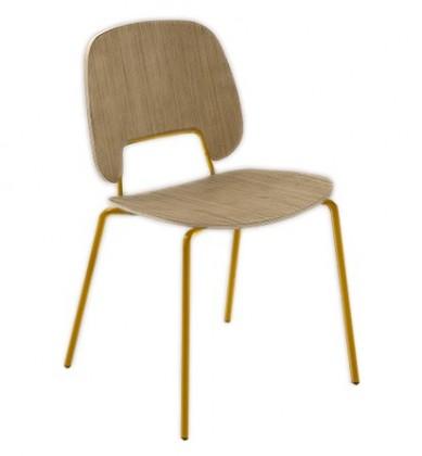 Jídelní židle Traffic - Jídelní židle (lak hořčicový, světlý dub)