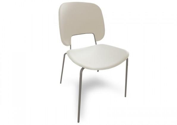Jídelní židle Traffic - Jídelní židle (lak pískový matný, eko kůže bílá)