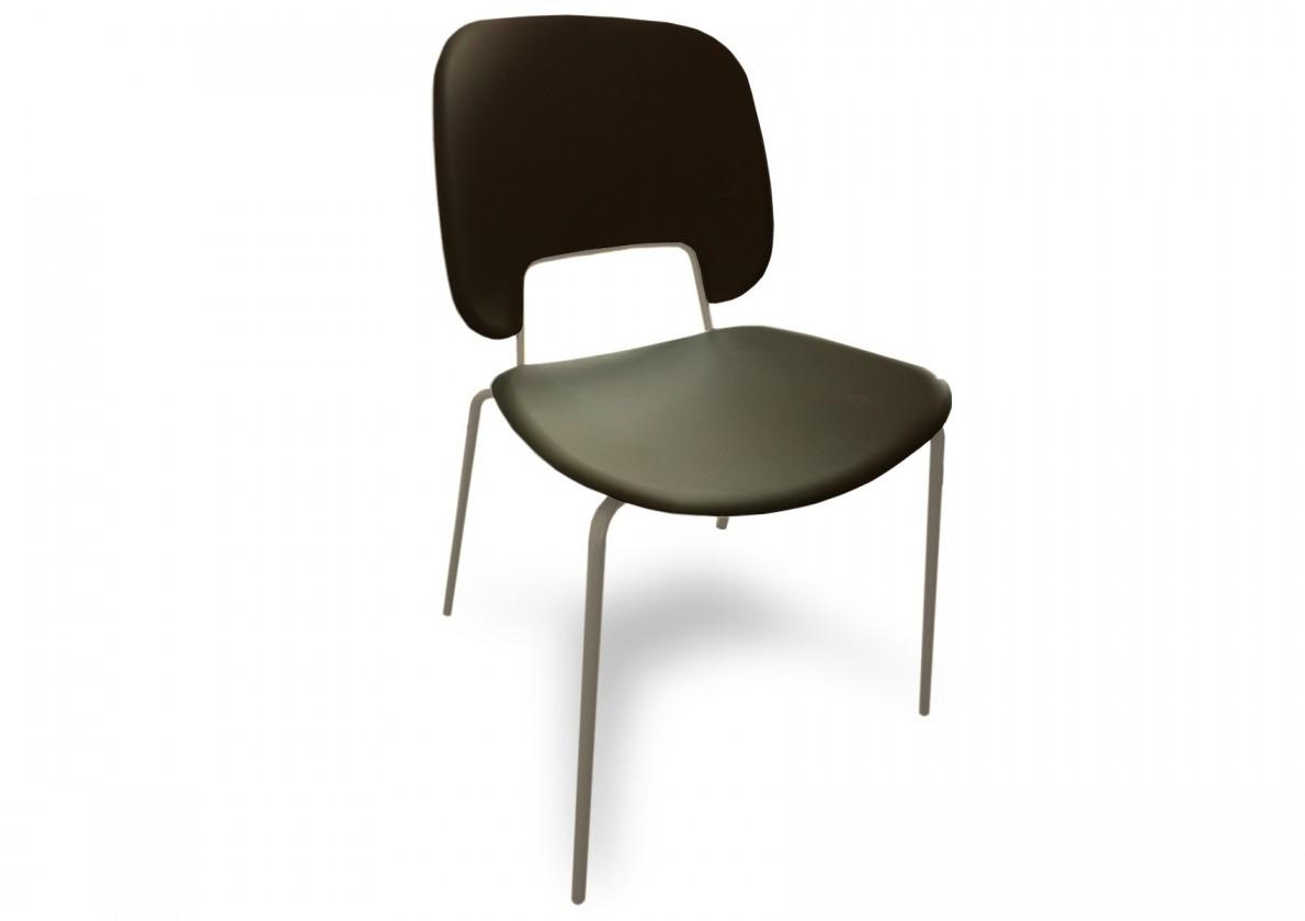 Jídelní židle Traffic - Jídelní židle (lak pískový matný, eko kůže černá)