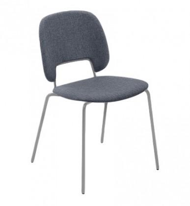Jídelní židle Traffic - Jídelní židle (lak pískový matný, látka jeans)