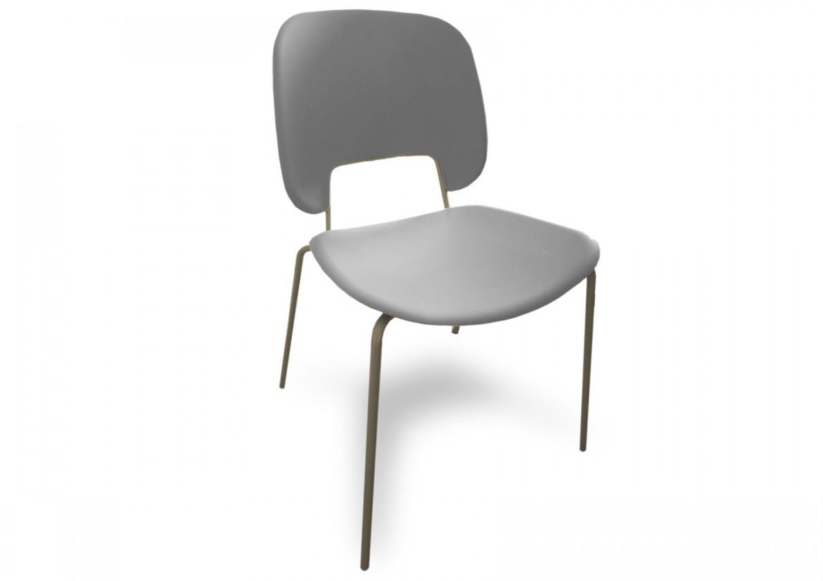 Jídelní židle Traffic - Jídelní židle (lak pískový matný, plast sv. šedá)