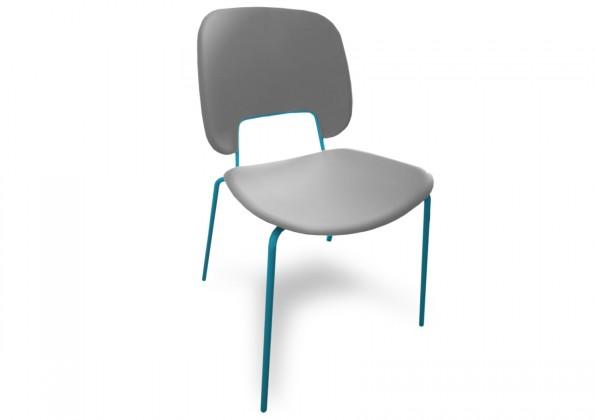 Jídelní židle Traffic - Jídelní židle (lak tyrkysový matný, plast sv. šedá)