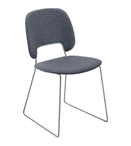 Jídelní židle Traffic-t - Jídelní židle (chromovaná ocel, látka jeans)