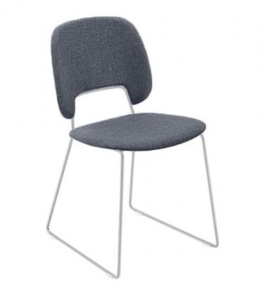 Jídelní židle Traffic-t - Jídelní židle (lak bílý mat, látka jeans)