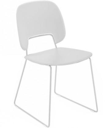 Jídelní židle Traffic-t - Jídelní židle (lak bílý mat, plast bílá)