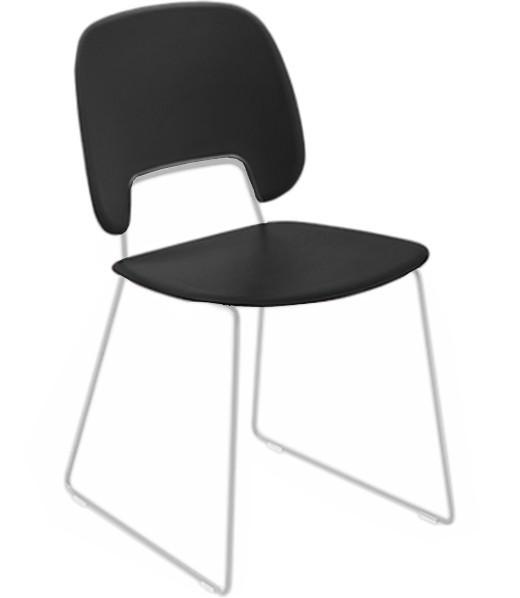 Jídelní židle Traffic-t - Jídelní židle (lak bílý mat, plast černá)