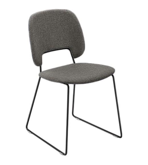 Jídelní židle Traffic-t - Jídelní židle (lak černý mat, látka hnědá)
