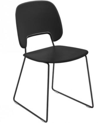 Jídelní židle Traffic-t - Jídelní židle (lak černý mat, plast černá)