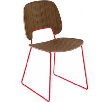 Jídelní židle Traffic-t - Jídelní židle (lak červený mat, ořech)