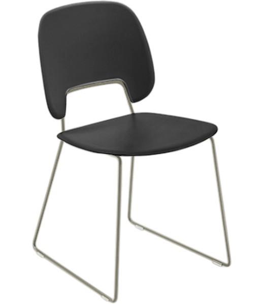 Jídelní židle Traffic-t - Jídelní židle (lak pískový mat, eko kůže černá)