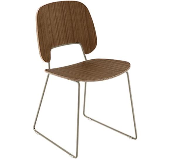 Jídelní židle Traffic-t - Jídelní židle (lak pískový mat, ořech)