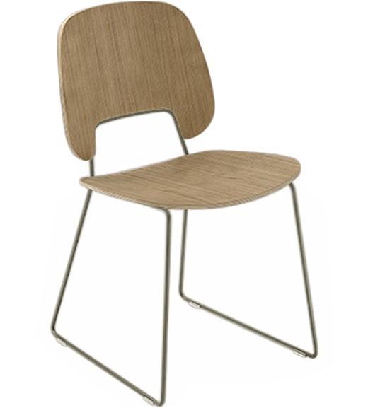 Jídelní židle Traffic-t - Jídelní židle (lak pískový mat, světlý dub)