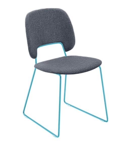 Jídelní židle Traffic-t - Jídelní židle (lak tyrkysový mat, látka jeans)
