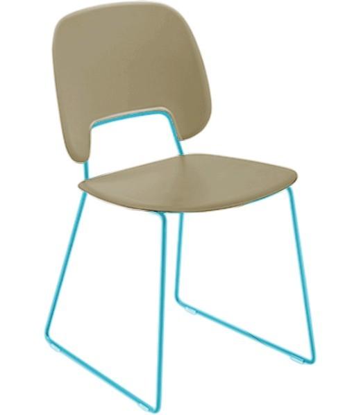 Jídelní židle Traffic-t - Jídelní židle (lak tyrkysový mat, plast pískový)