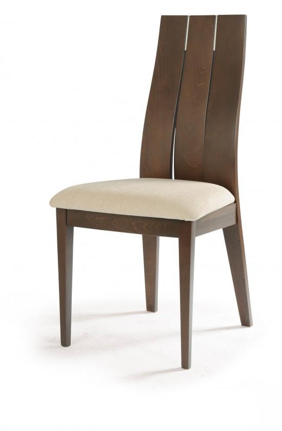 Jídelní židle TRECIA(buk, moření ořech,potah krémový)