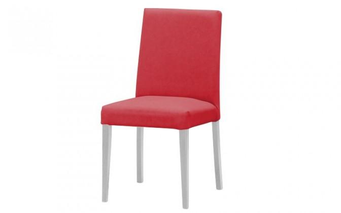 Jídelní židle Uno(bílá/carabu bordo 80)