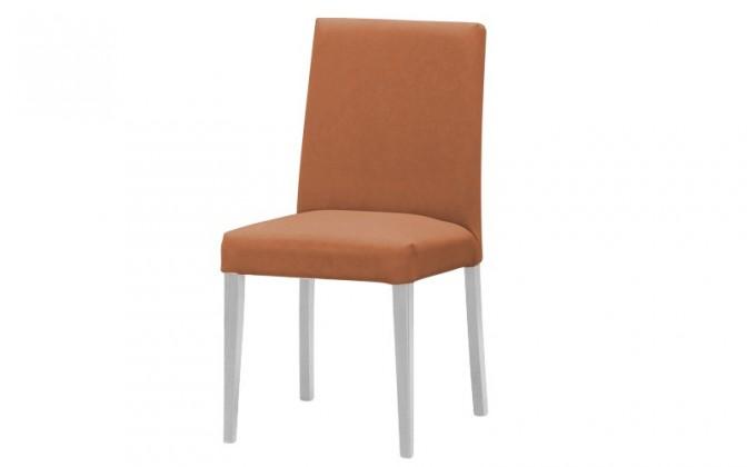 Jídelní židle Uno(bílá/carabu terracotta 75)