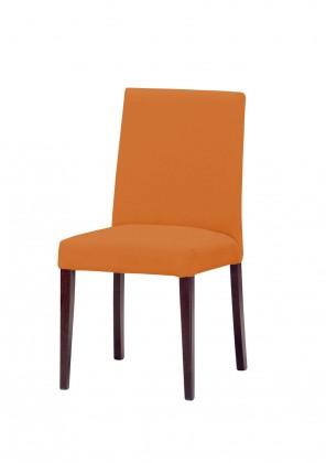 Jídelní židle Uno(tm.hnědá/carabu arancio 94)