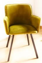 Jídelní židle Vian zelená, černá