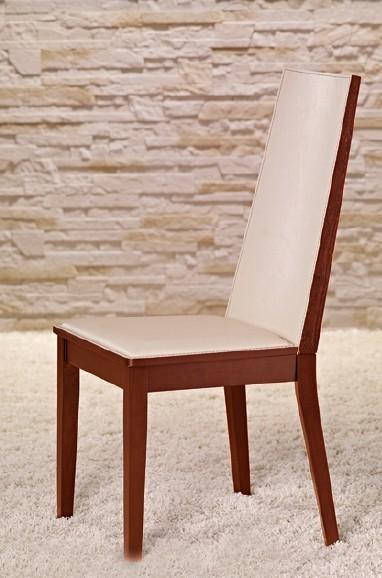 Jídelní židle Vicente - Jídelní židle (třešeň/eko kůže krémová)