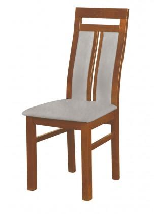 Jídelní židle Werona - jídelní židle (dřevo - světlý ořech/potah - látka)
