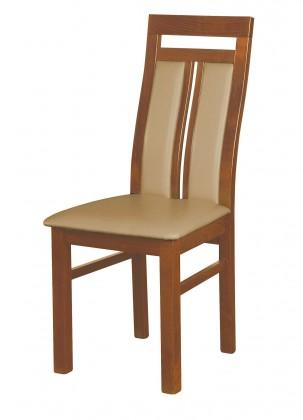 Jídelní židle Werona - jídelní židle (dřevo - světlý ořech/potah - syntetická kůže)