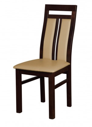Jídelní židle Werona - jídelní židle (dřevo - tmavý ořech/potah - syntetická kůže)