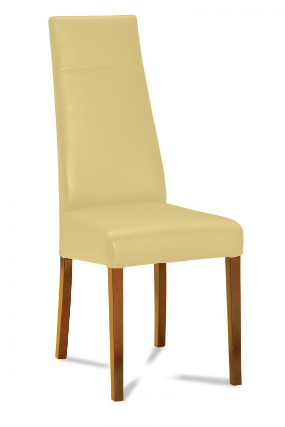 Jídelní židle Wolfa (dub/eko kůže vienna béžová)