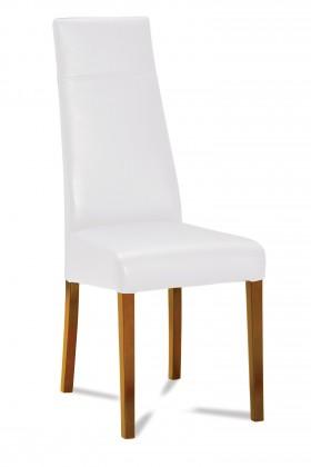 Jídelní židle Wolfa (dub/eko kůže vienna bílá)