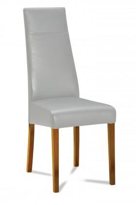 Jídelní židle Wolfa (dub/eko kůže vienna šedá)