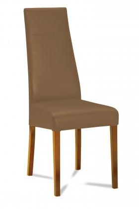 Jídelní židle Wolfa (dub/látka carabu hnědá)