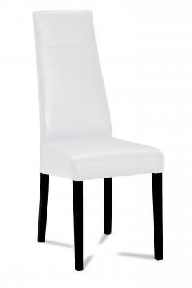 Jídelní židle Wolfa (wenge/eko kůže vienna bílá)