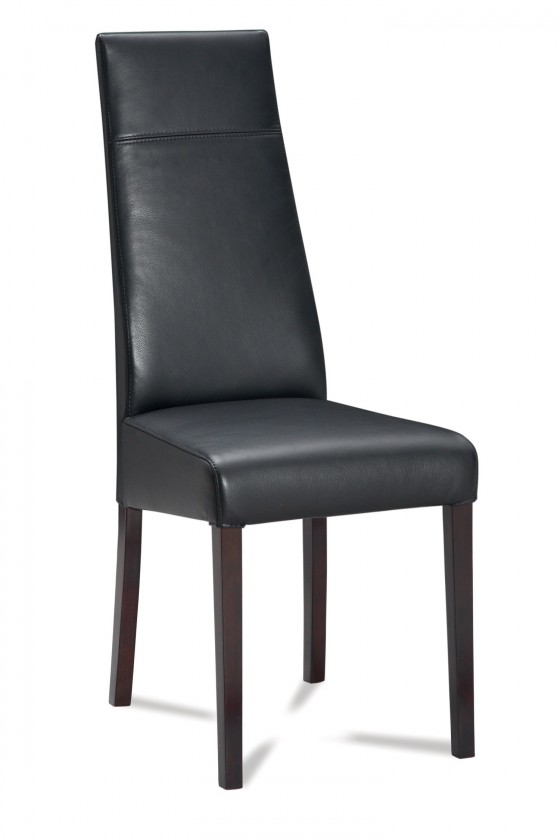 Jídelní židle Wolfa (wenge/eko kůže vienna černá)