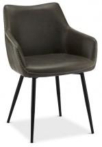 Jídelní židle Zalea šedá, černá